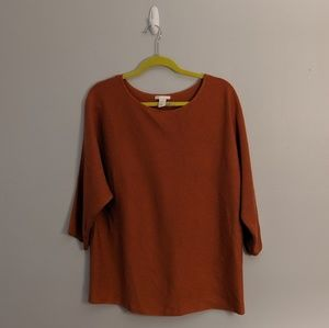 3/$25 H&M Brown Oversize Boxy 3/4 Sleeve Sweater